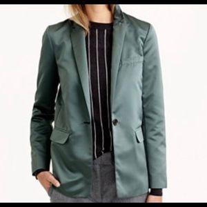 J.crew collection satin blazer jacket
